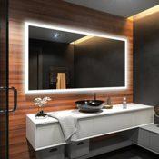 Design Badspiegel mit LED Beleuchtung