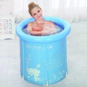 Tinksky Erwachsener faltbare Badewanne