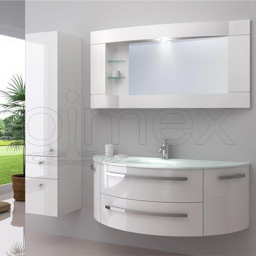 Oimexgmbh Design Badmobel Set Cote D Azur Weiss Hochglanz